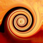 braunrote spirale