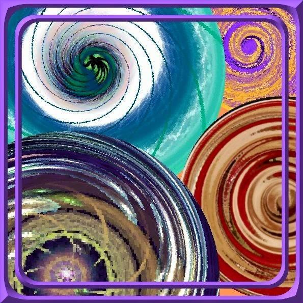 spiralen im rahmen zwei